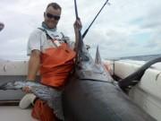 Matt Gill with 500 lb sword